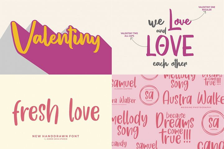The Mega Valentine's Font Collections example image 4