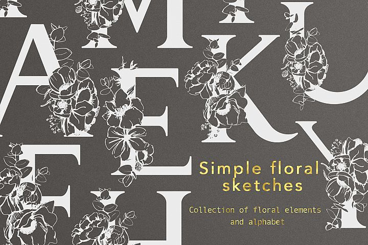 Simple floral sketches