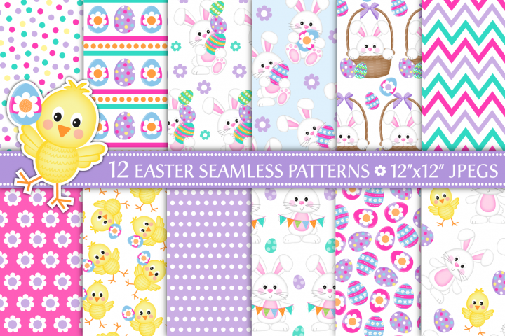 easter digital paper, easter patterns, Easter, easter