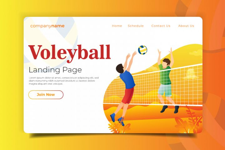 Volleyball - Landing Page Illustration