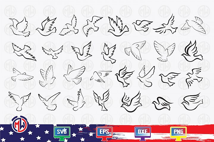 Pigeon SVG, EPS, DXF, PNG for Cricut and More !