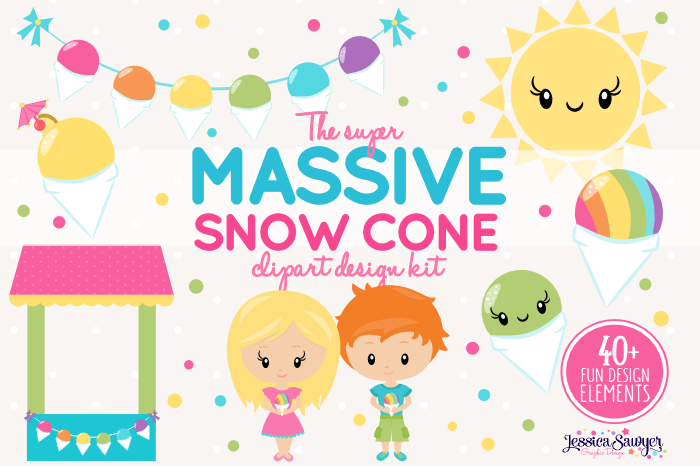 The Massive Snow Cone Clipart Pack