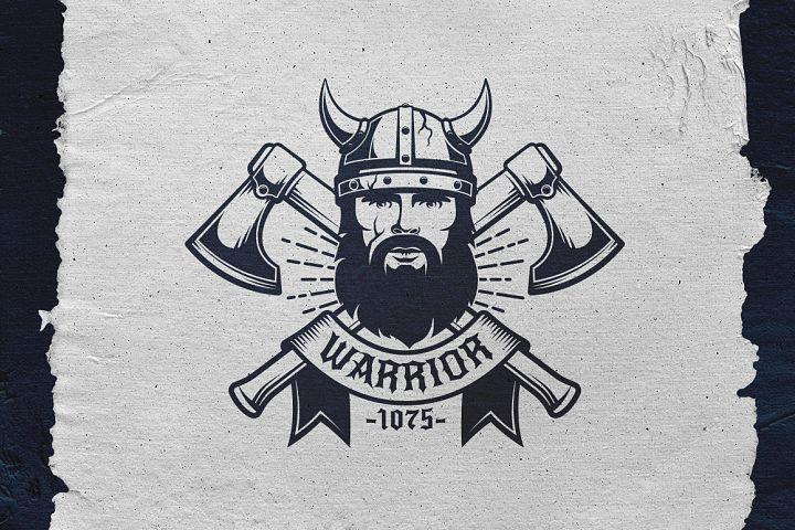 Viking Warrior Logo Template