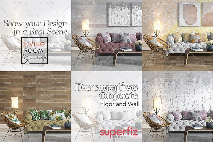 Decorative Set PSD Mockup SM58