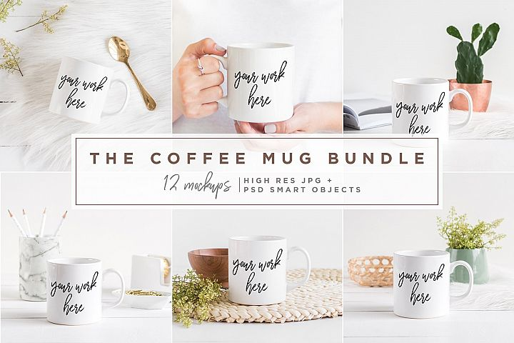 The Coffee Mug Bundle - 12 Mockups