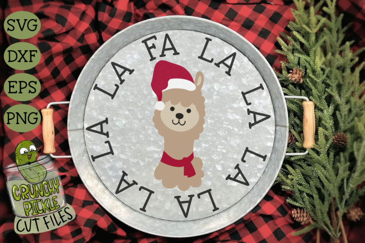 Christmas Llama SVG Cut File