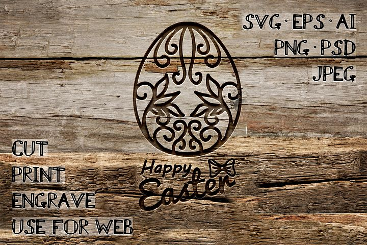 Easter Egg Template | SVG EPS AI PSD PNG JPEG