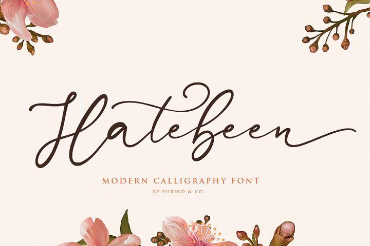 Hatebeen - Modern Script Font