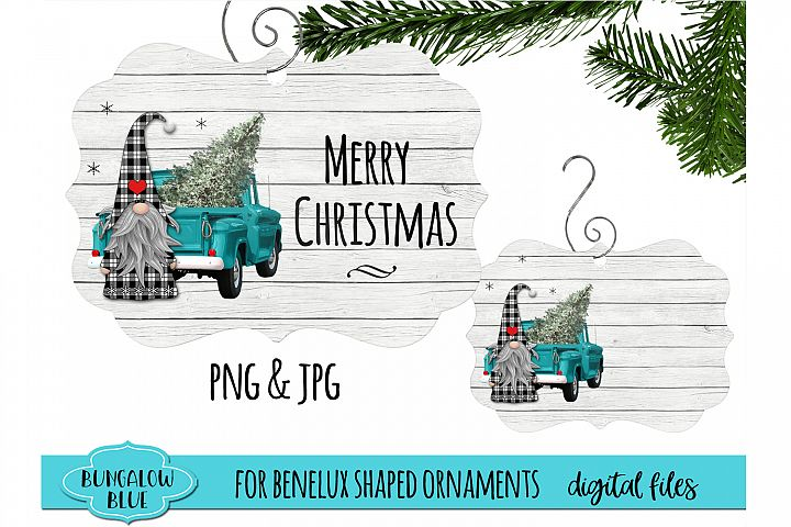 Merry Christmas Gnome Benelux Ornament Design Download