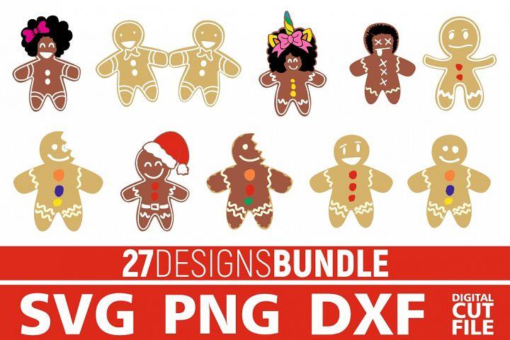 27x Christmas Gingerbread Bundle svg, gingerbread man svg