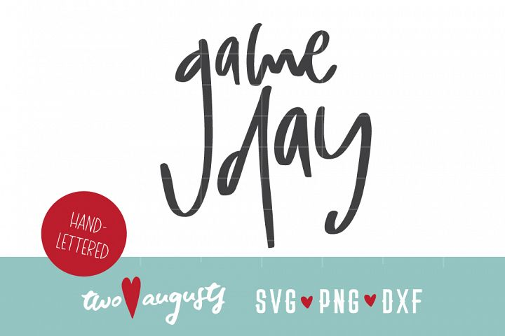 Game Day, hand lettered, written, trendy, simple, sports, go