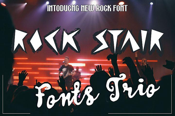 Rock Stair Font Trio