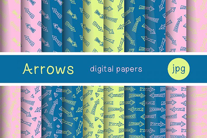 Digital paper - hand drawn arrows