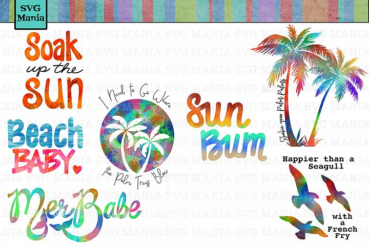 Summer | Beach Sublimation Design Bundle | 9 Beach PNG Files