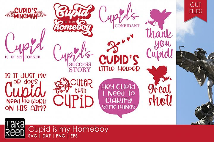 Cupid is my Homeboy - Valentines Day SVG Files