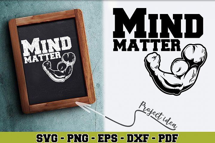 Gym SVG n253 | Mind matter