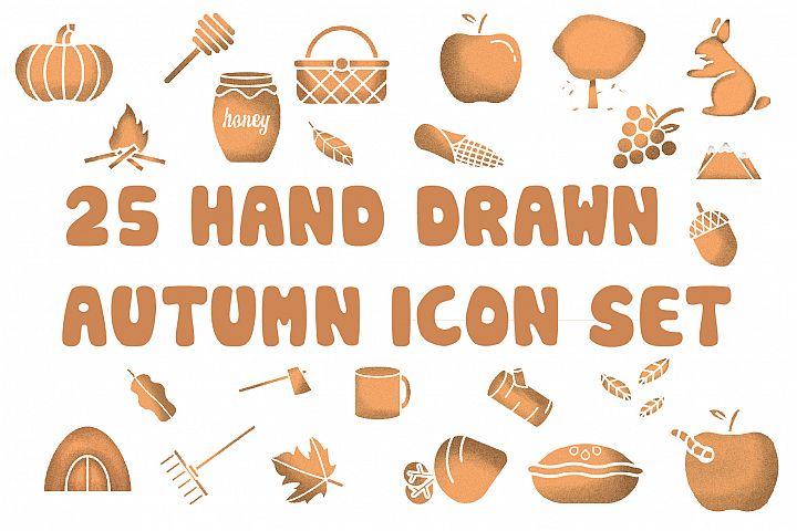 Autumn Hand Drawn Icon Set