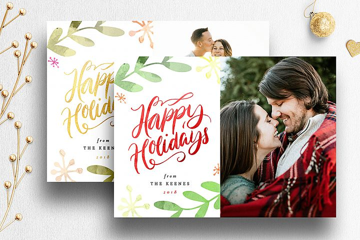 Christmas Card Photoshop Template| 009
