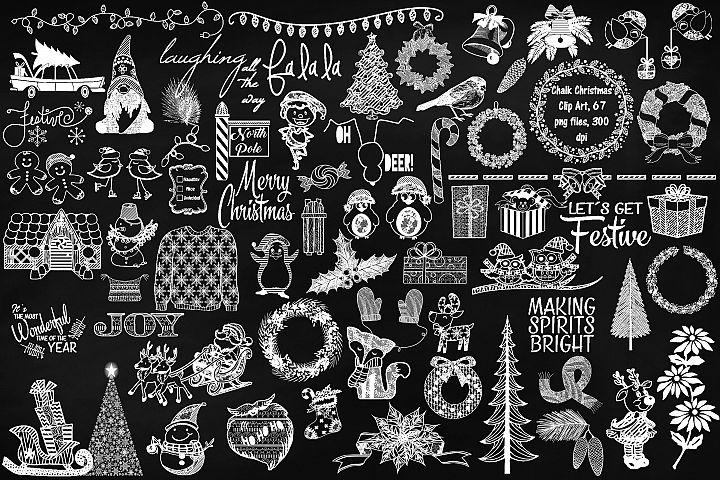 Chalkboard Christmas Megapack Clip Art