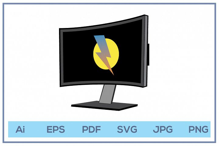 Vector of Computer display led lcd monitor