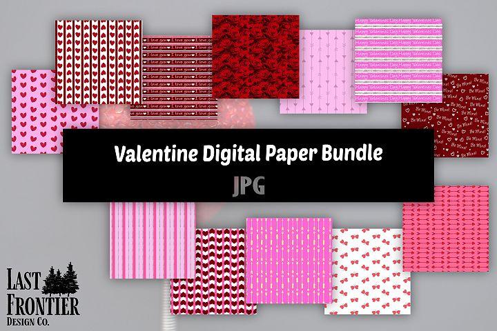 Valentine Digital Paper Bundle