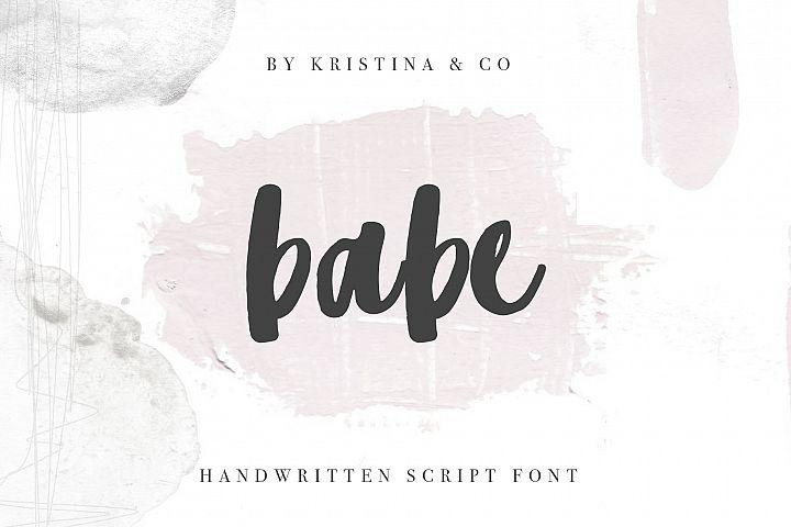 Babe Handwritten script Font