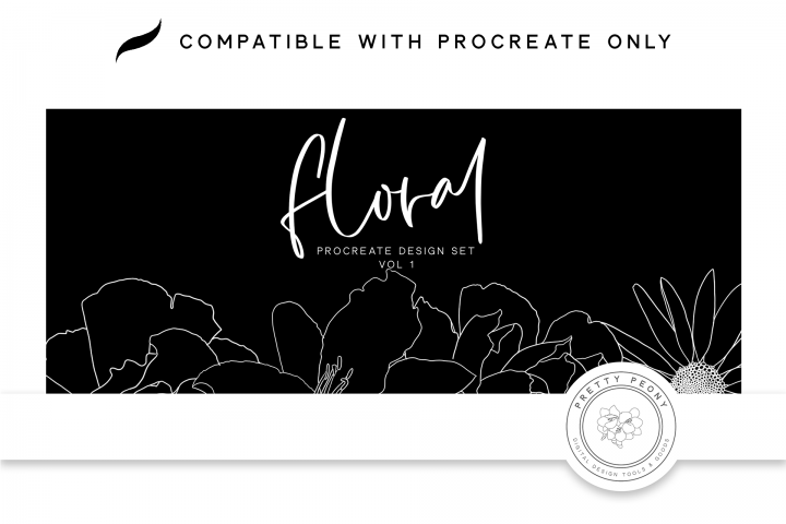 20 Procreate Floral Stamps Vol. 1