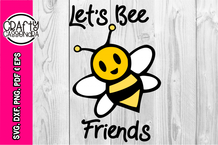 Cute bee svg - back to school - Lets be friends - layered