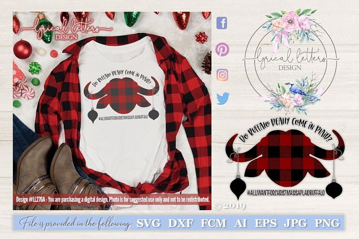 Do Buffalo Come In Plaid Christmas SVG DXF LL277A