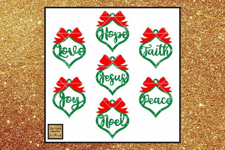 Farmhouse Christmas Ornaments, Christmas Svg, Christmas
