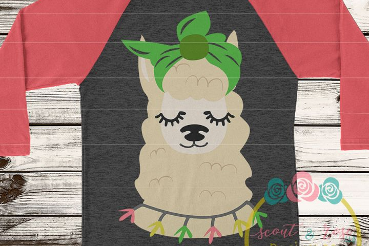 Llama with Bandana SVG DXF PNG