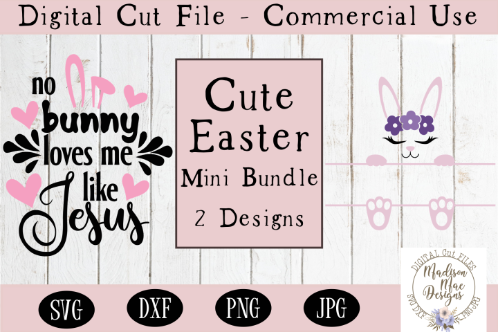Cute Easter Mini Bundle, Split Frame SVG, Easter Jesus SVG