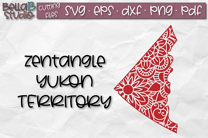 Zentangle SVG, Yukon SVG, SVG, Canada SVG, Canadian SVG