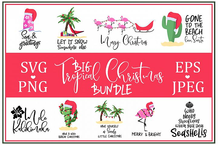 Big Tropical Cristmas Bundle SVG