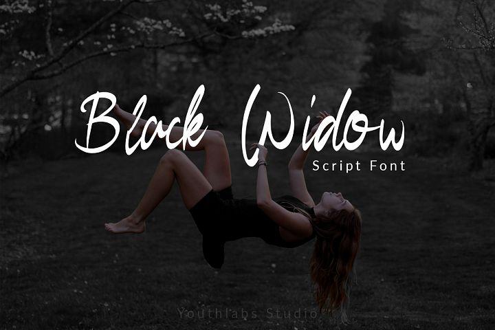Black Widow - Script Font
