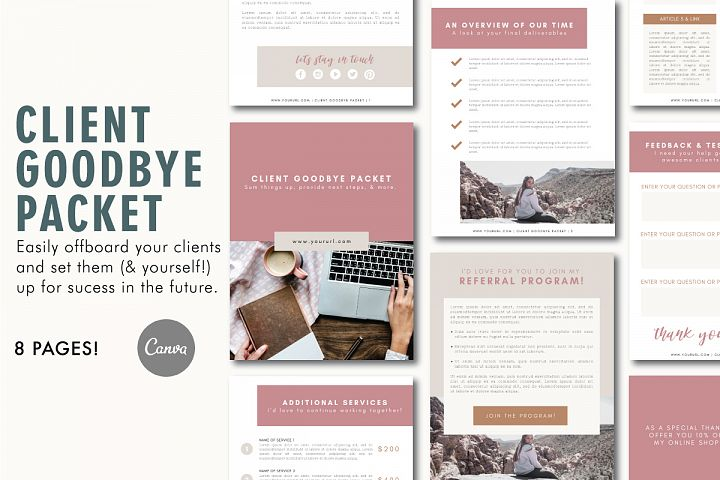Client Exit Packet | Business Template | Goodbye Packet