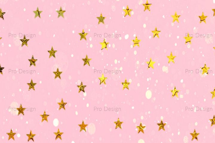 Star Golden sparkles Background