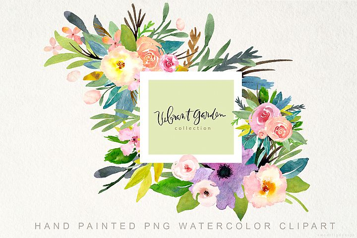 Hand painted PNG Watercolor Flowers