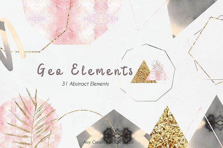 Geometric Element Mountain Abstract Clip Art Se