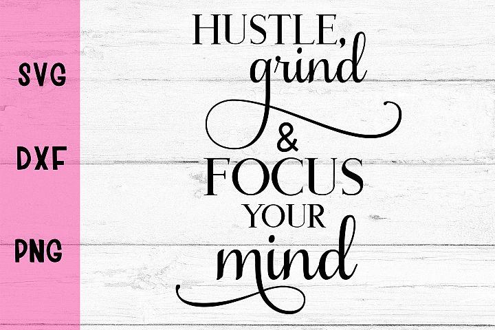Hustle- SVG DXF PNG