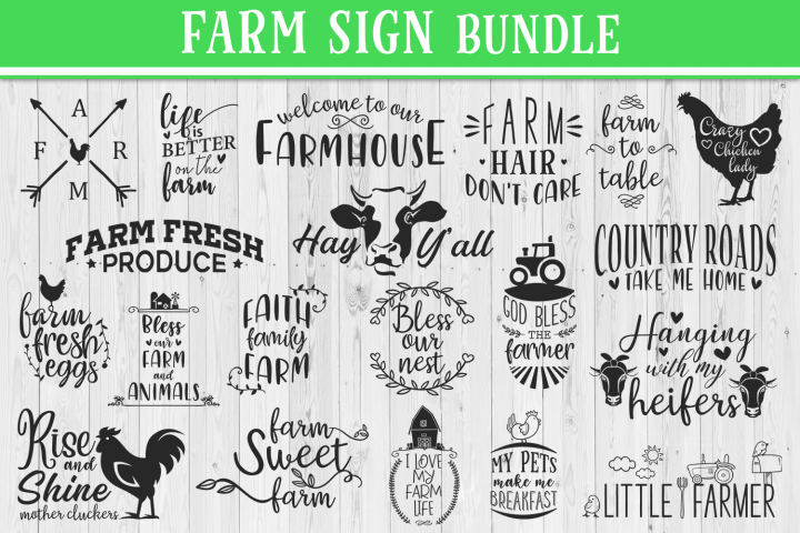 SALE! 20 Farm quotes bundle, Quote sign svg, farm svg