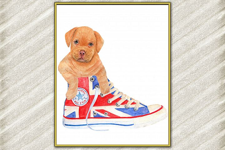 Cute dog digital print ,Puppy Posters, Funny dog print