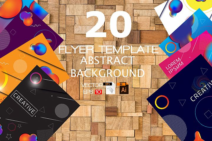 20 Vector Flyer Abstract Background Template