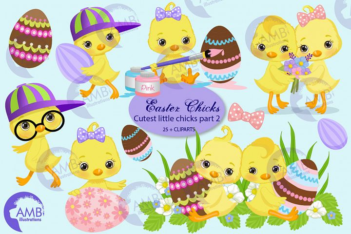 Easter Chicks clipart, Part 2 AMB-2727