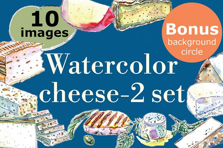 Watercolor cheese set-2