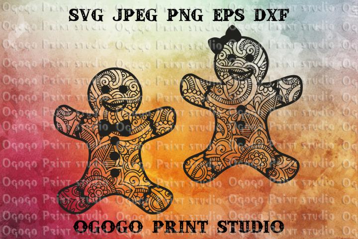 Gingerman svg, Gingerbread svg, Christmas SVG, Zentangle SVG
