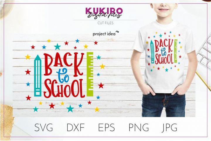 Back to school SVG - School Kids Cut file