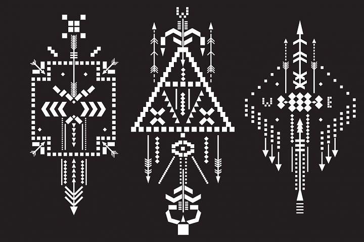 Boho totem. Sacred geometry example 5
