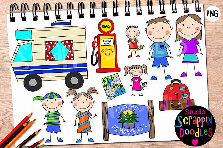 Family Road Trip Clip Art