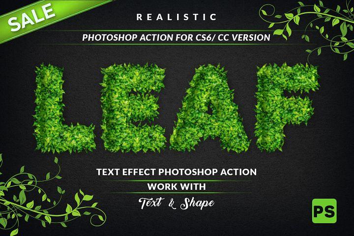 Leaf Text Effect Photoshop Action